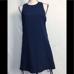 Alythea Navy Criss Cross side's  Dress L